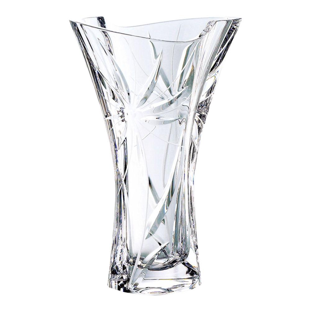お祝い 御祝 花器 フラワーベース GW3501-98255 /narumi glass works グラスワークスナルミ ガイア 25cm花瓶 GW3501-98255ご出産祝い ご結婚祝い 婚礼 長寿 記念品