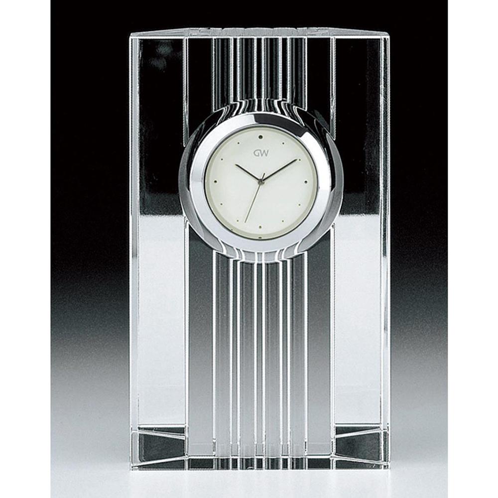 名入れ対応可 インテリアクロック | グラスワークスナルミ ストリングス クロック | デスククロック時計 GW1000-11204 | 置き時計 | お祝い 竣工 設立 新生活 記念品 プレゼント