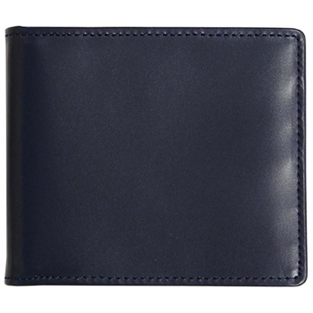 折り財布 HCK33D-Z /banbi さとりナチュラル マネークリップ 高級牛革 HCK33D-Z 紺父の日 お誕生日 お父さん