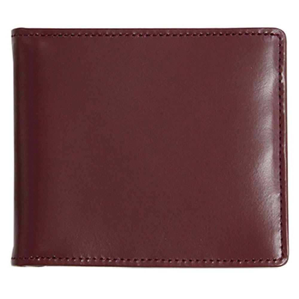 折り財布 HCK33E-Z /banbi さとりナチュラル マネークリップ 高級牛革 HCK33E-Z ワイン父の日 お誕生日 お父さん