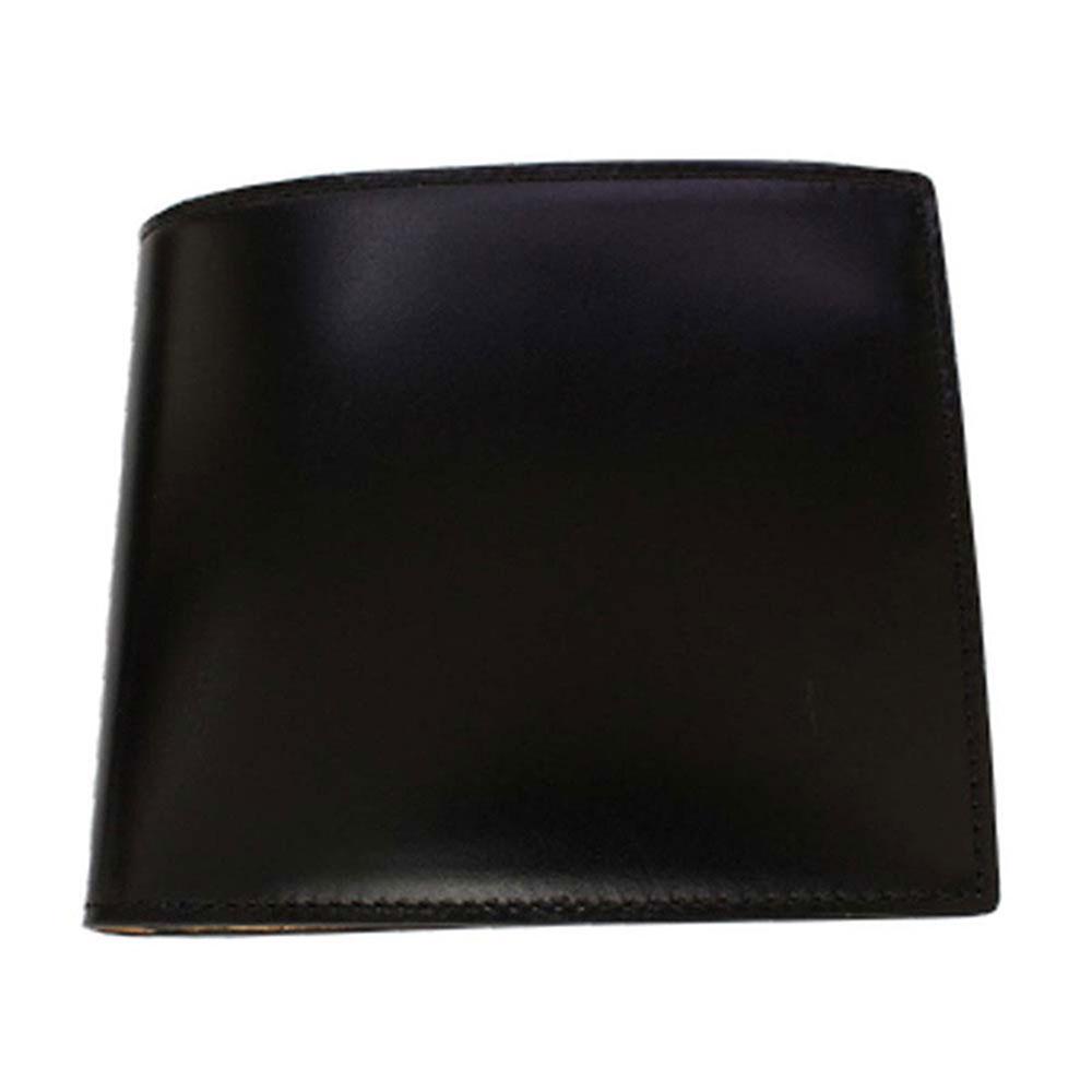 折り財布 GCKC102A-Z /banbi コードバン 馬革 折財布 小銭入れあり GCKC102A-Z 黒父の日 お誕生日 お父さん
