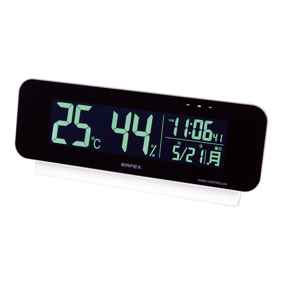 名入れ対応可 電波時計 掛け時計 TD-8262 /エンペックス 電波時計付デジタル温 湿度計 TD-8262新築祝い 竣工記念 開店祝い 開業祝い