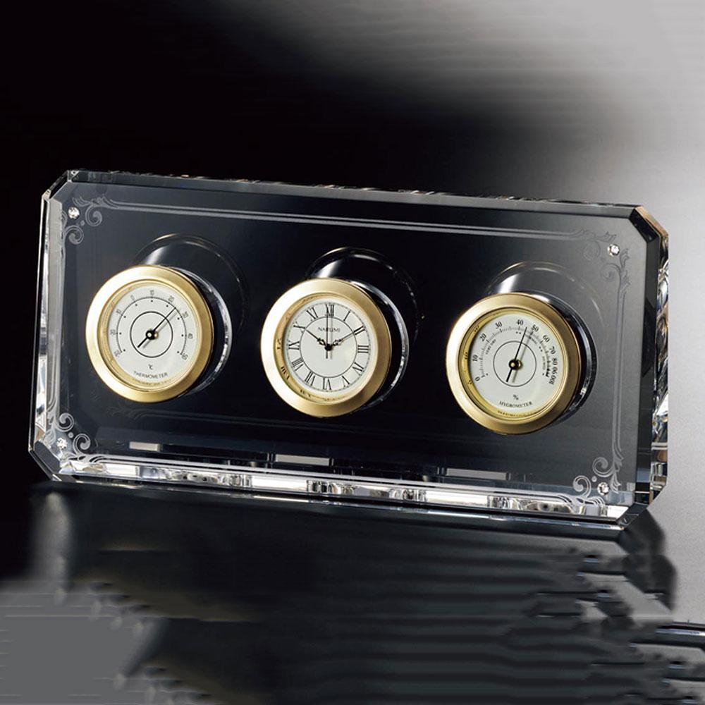 記念品 インテリアクロック 時計 GG1000-15020 /ナルミ サーモクロック GG1000-15020新築祝い 竣工記念 開店祝い 開業祝い