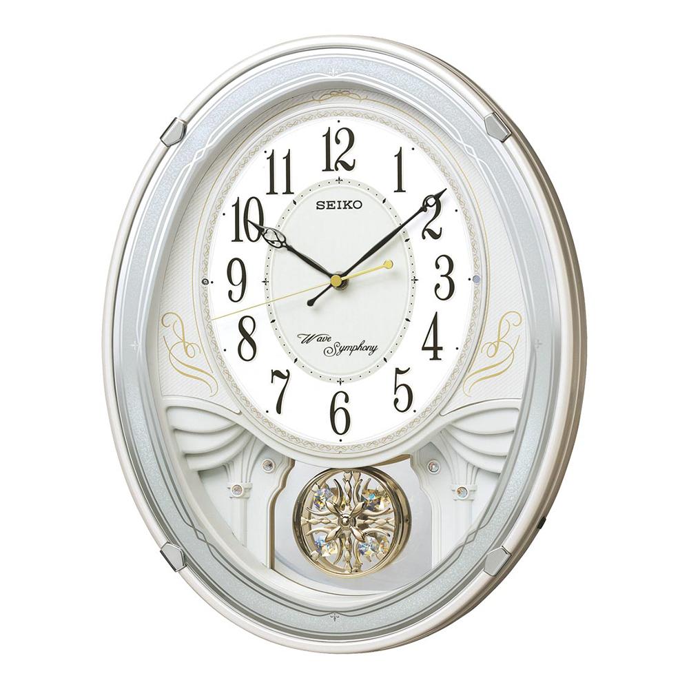 スーパーセール 9月 名入れ対応可 電波時計 掛け時計 | セイコー ウエーブシンフォニー 電波正時メロディ掛時計 AM258W | 掛け時計 | お祝い 竣工 設立 新生活 記念品 プレゼント