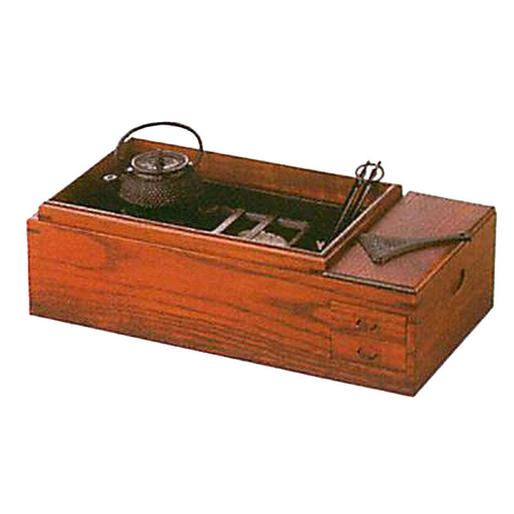 【南部鉄器 送料無料 ギフト】 南部鉄器 長火鉢 灰皿セットB C09-15 [鉄器灰皿]