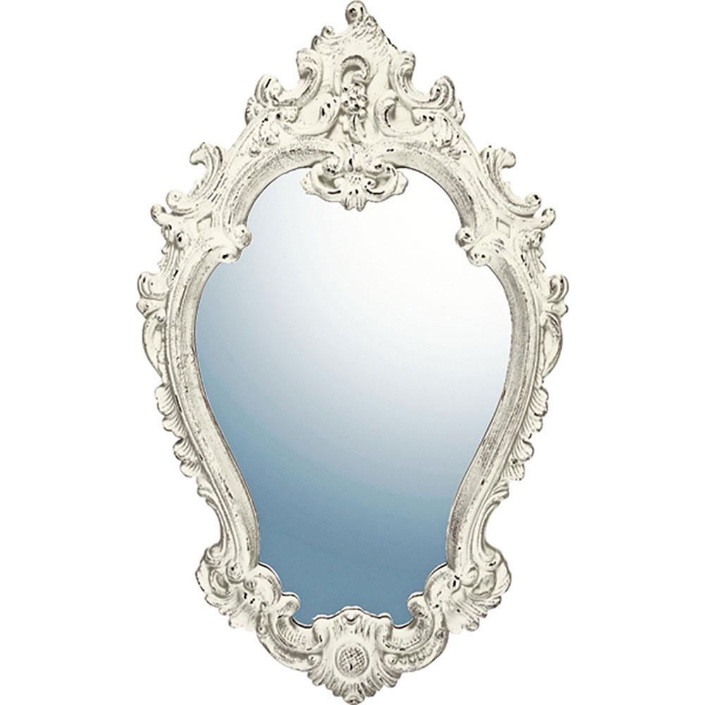 鏡 ミラー おしゃれ かわいい GM-20011 /グレース アート ミラー 「アリストクラシー(アンティークホワイト)」 壁掛用 GM-20011