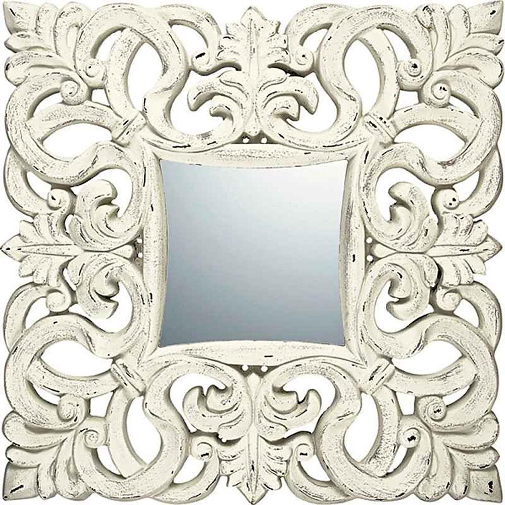 壁掛け鏡 グレース アート ミラー ノーブル L アンティークホワイト ゴルフコンペ 賞品