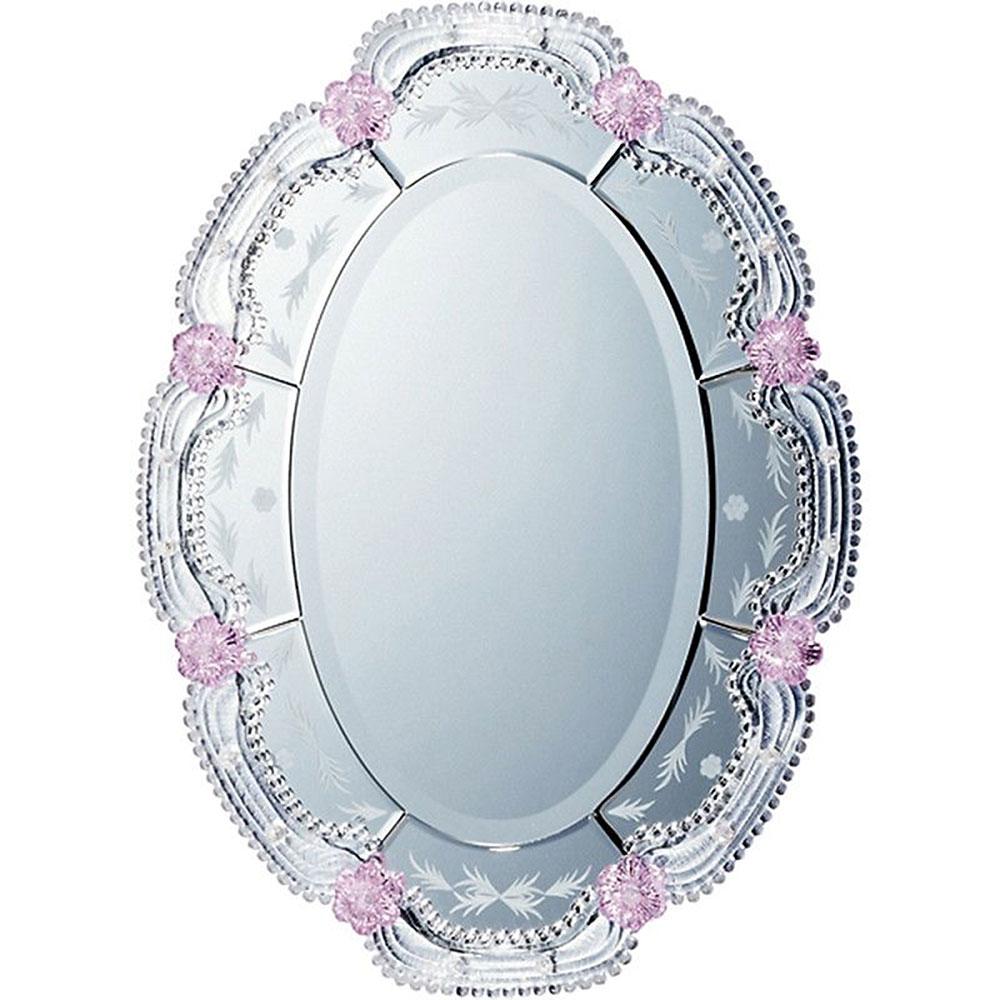 鏡 ミラー おしゃれ かわいい MM-43002 /ムラーノ スタイル ミラー 「オルビア(シルバー)」 壁掛用 MM-43002