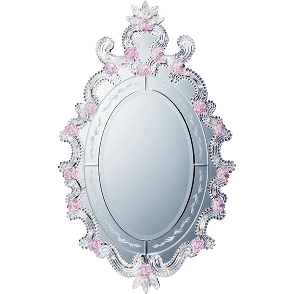 鏡 ミラー おしゃれ かわいい | ムラーノ スタイル ミラー 「モーディカ(シルバー)」 | 鏡 ミラー MM-65002 | 鏡 丸型 |