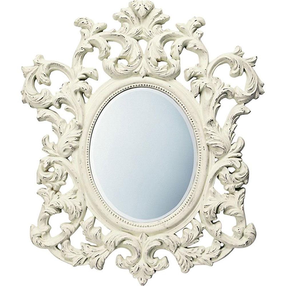 【お祝い 御祝い 記念品 送料無料 ギフト】 壁掛け鏡 グレース スタイル ミラー アルゴス アンティークホワイト GM-30011 開店祝い 事務所開き 御祝 記念品
