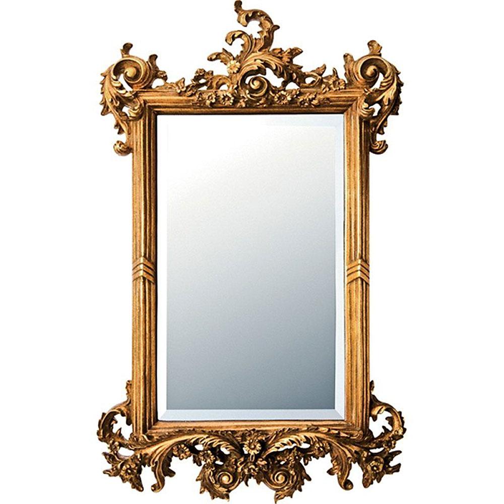 鏡 ミラー おしゃれ かわいい GM-15012 / グレース アート ミラー 「フォリッジ(アンティークゴールド)」 壁掛用 GM-15012