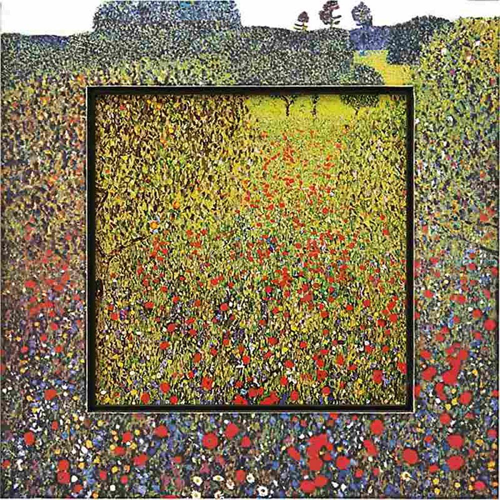 おしゃれでかわいい壁掛け飾り 絵画 お祝い 記念品   ビッグアート クリムト 「フィールドオブポピー」   飛び出す絵画 BA-08507   絵画  