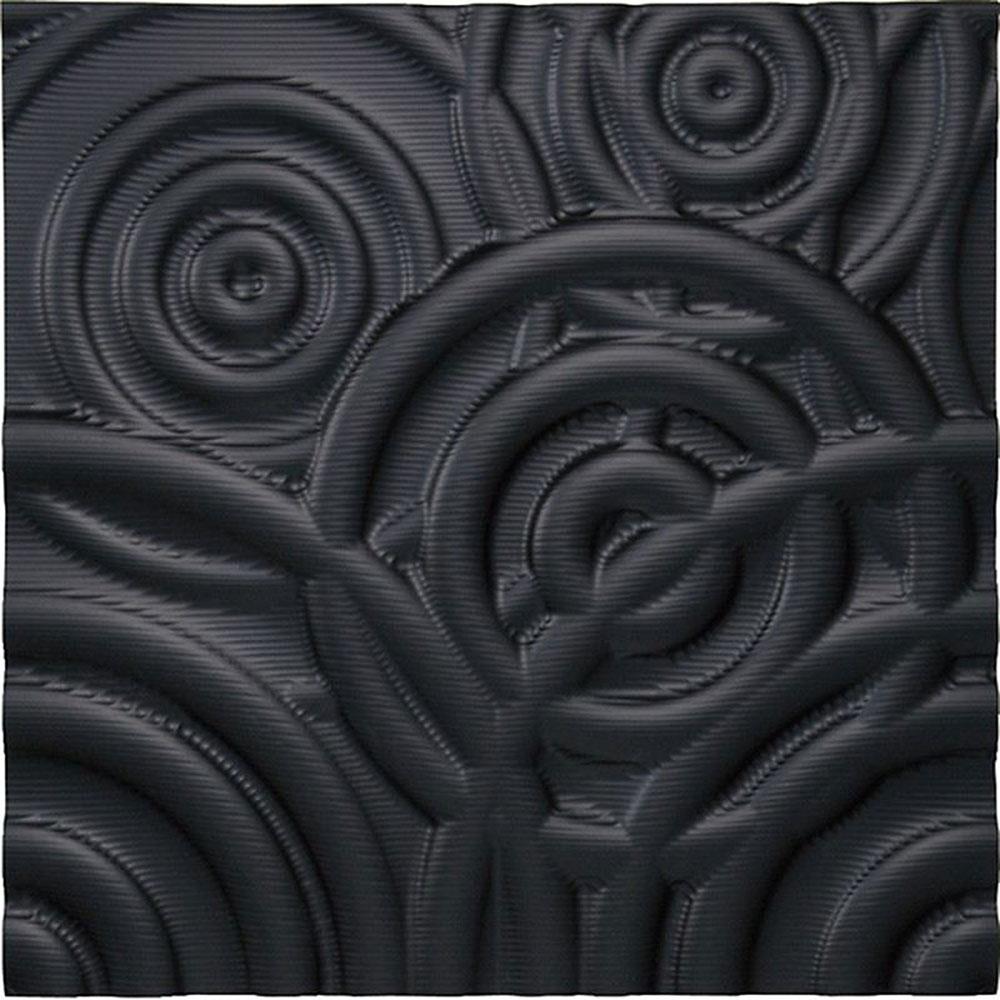 壁掛け飾り オブジェ お祝い 記念品 おしゃれ かわいい PL-16502 /プラデック ウォール アート 「リップル(ブラック)」 壁掛用、ワイヤー掛け金具付き PL-16502 ママ割 ポイント5倍/キャッシュレス還元 ポイント5倍