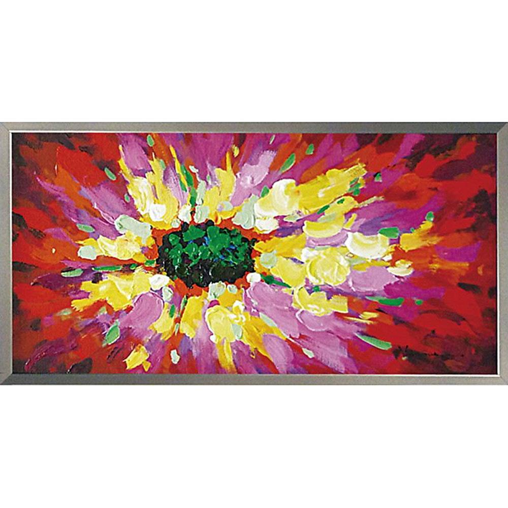 おしゃれでかわいい壁掛け飾り 絵画 お祝い 記念品 OP-22002 /オイル ペイント アート 「ポピー」 OP-22002 キャッシュレス還元 ポイント5倍