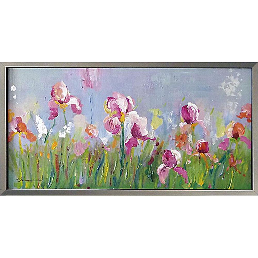 おしゃれでかわいい壁掛け飾り 絵画 お祝い 記念品 OP-22006 /オイル ペイント アート 「フィールド フラワー」 OP-22006 キャッシュレス還元 ポイント5倍