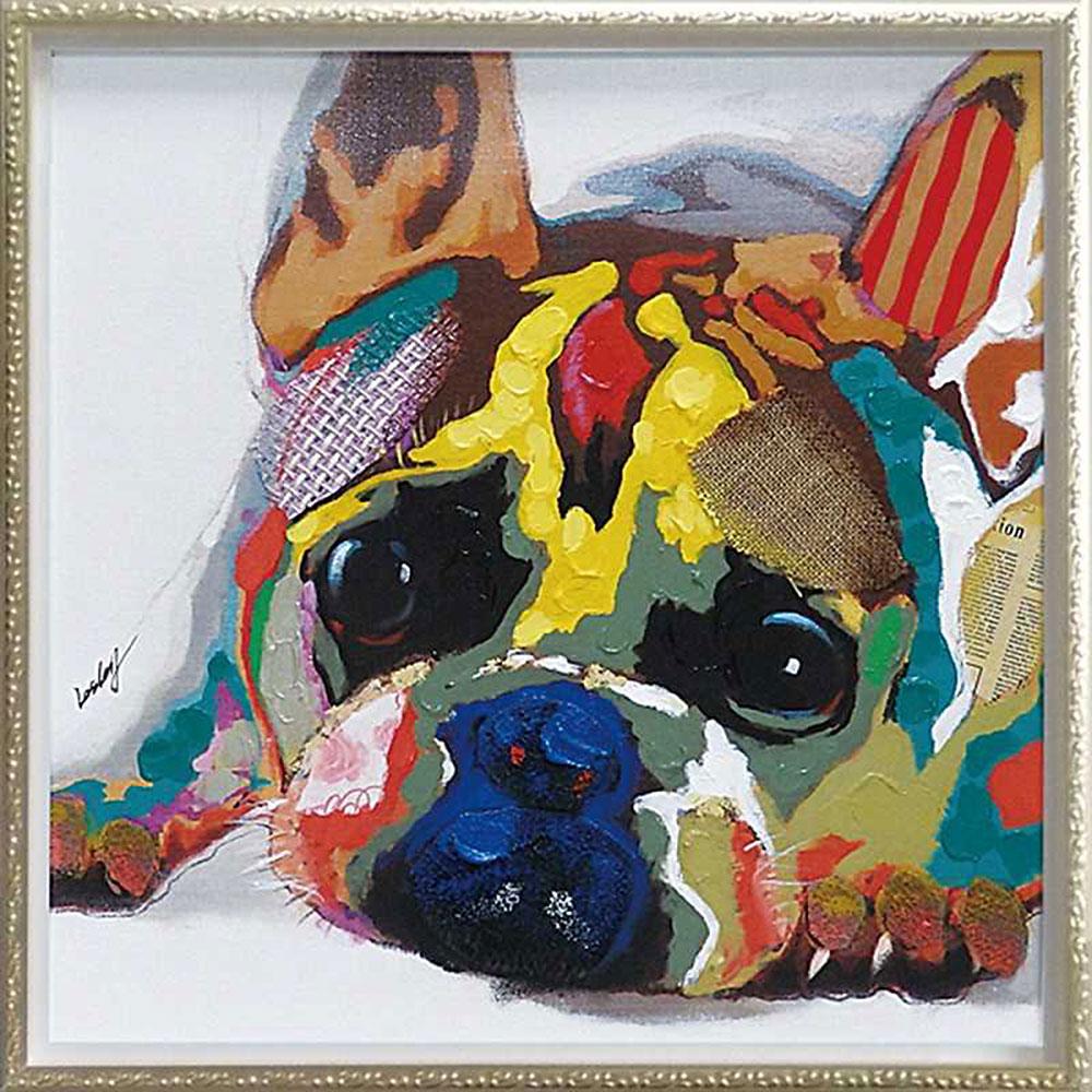 記念品 名入れ絵画 父の日 オイル ペイント アート オイル カラフル ブルドッグ Mサイズ OP-18026 アート 周年記念品 プレゼント 父の日 退職記念 卒業記念, ウエディングティアラゴージャス屋:97f19967 --- sunward.msk.ru