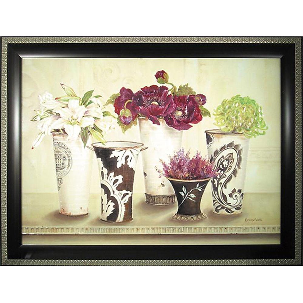 記念品 名入れキャサリン ホワイト 絵画 ピオニー エレガンス KW-16501 周年記念品 プレゼント 父の日 退職記念 卒業記念