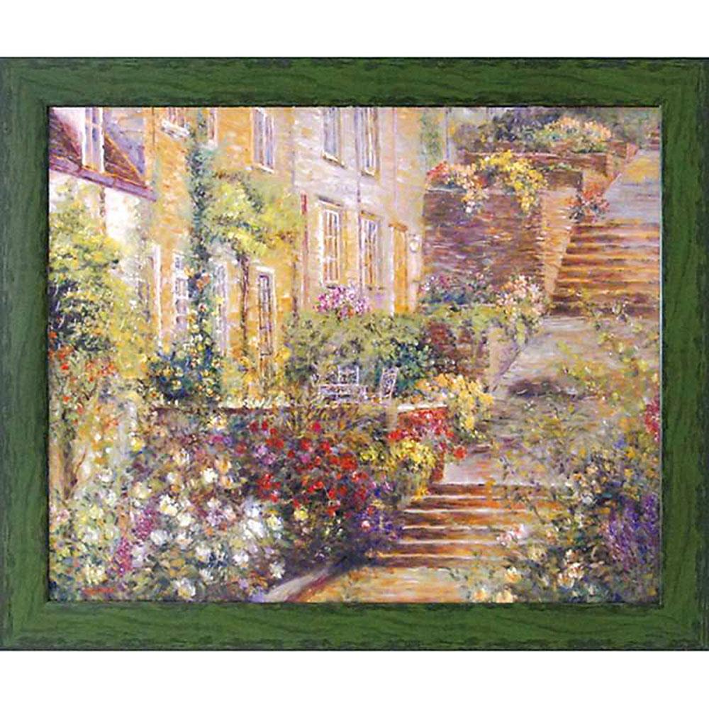 壁掛け飾り 絵画 お祝い 記念品 おしゃれ かわいい LO-20003 /ロンゴ 「パティオ ガーデン1」 LO-20003 キャッシュレス還元 ポイント5倍