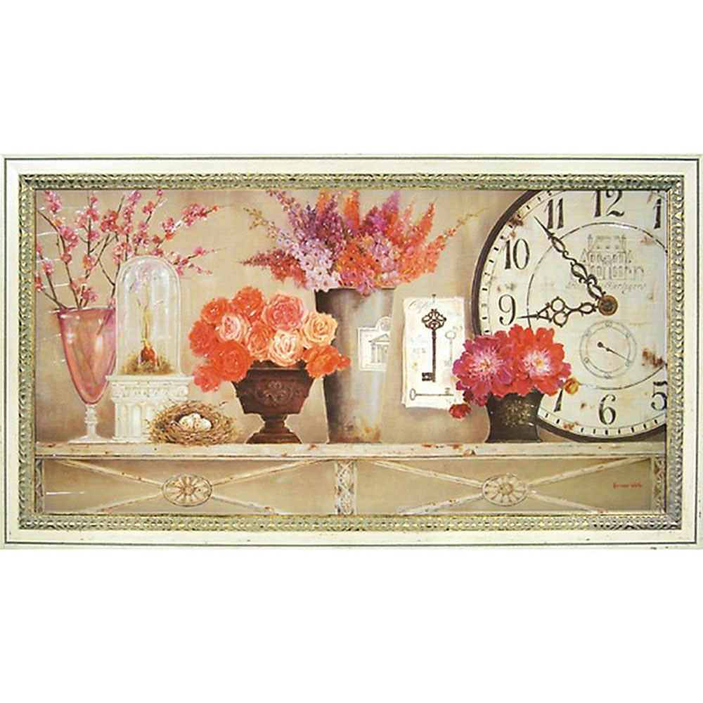 壁掛け飾り 絵画 お祝い 記念品 おしゃれ かわいい KW-22010 /キャサリン ホワイト 「桜色」 KW-22010 キャッシュレス還元 ポイント5倍