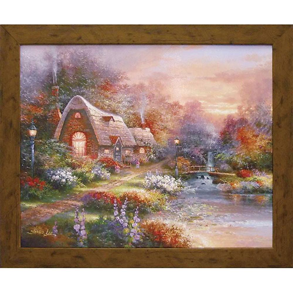 記念品 名入れジェームス リー 絵画 カントリー クワイエット JL-17002 周年記念品 プレゼント 父の日 退職記念 卒業記念