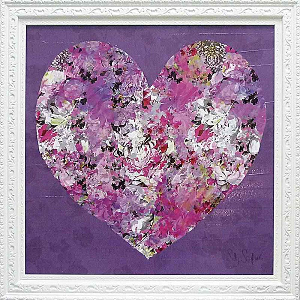 壁掛け飾り 絵画 お祝い 記念品 おしゃれ かわいい | サリー スカファーディ 「ハート」 | 絵画 SS-12001 | 絵画 |