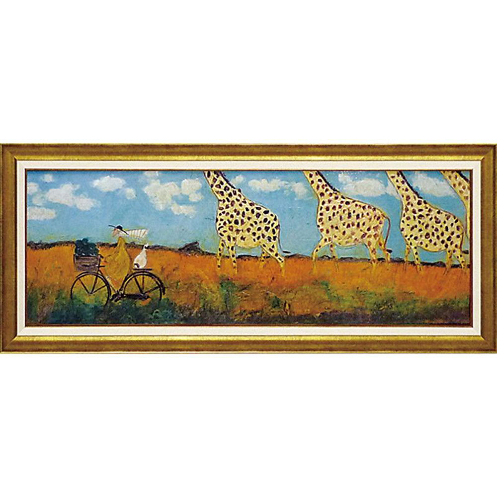 壁掛け飾り 絵画 お祝い 記念品 おしゃれ かわいい | サム トフト 「キリンと大行進」 | 絵画 ST-16005 | 絵画 |