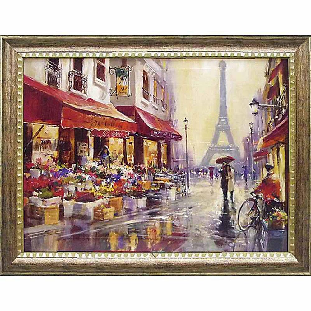 壁掛け飾り 絵画 お祝い 記念品 おしゃれ かわいい BH-22001 /ブレント ヘイトン 「エイプリル イン パリ」 BH-22001 キャッシュレス還元 ポイント5倍