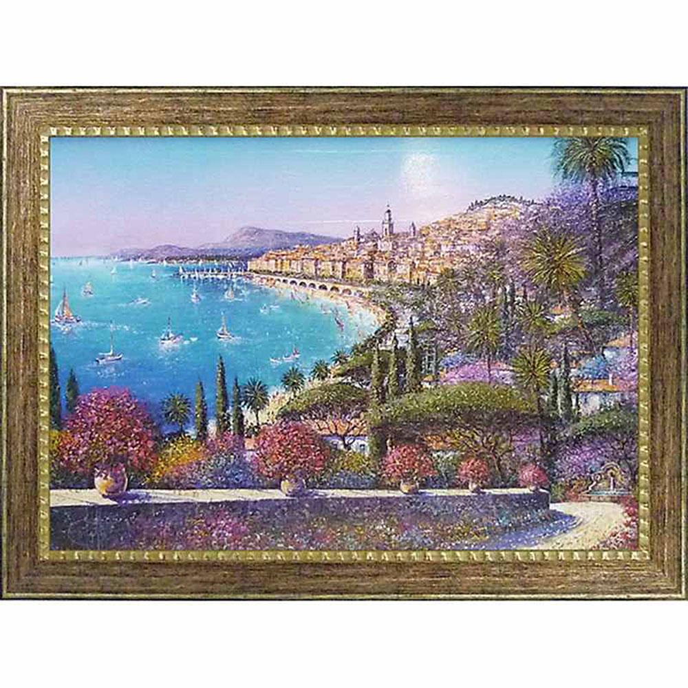 壁掛け飾り 絵画 お祝い 記念品 おしゃれ かわいい GD-22003 /ギィ デサップ 「マントン」 GD-22003 キャッシュレス還元 ポイント5倍