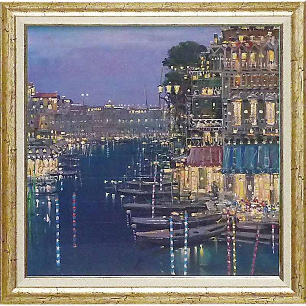 壁掛け飾り 絵画 お祝い 記念品 おしゃれ かわいい | マリオ サンツォーネ 「薄明かりの川面」 | 絵画 MS-13501 | 絵画 |