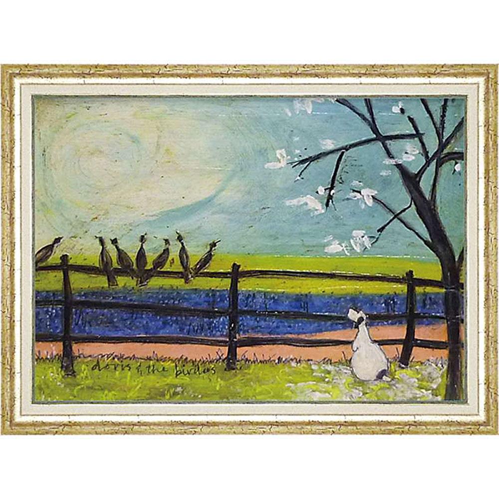 壁掛け飾り 絵画 お祝い 記念品 おしゃれ かわいい ST-16009 /サム トフト 「ドリスと鳥たち」 ST-16009 キャッシュレス還元 ポイント5倍