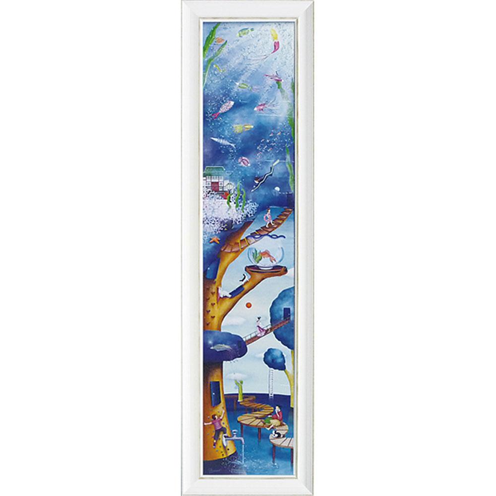 壁掛け飾り 絵画 お祝い 記念品 おしゃれ かわいい NM-15007 /なかの まりの 「Water tree(Lサイズ)」 壁掛用 NM-15007 キャッシュレス還元 ポイント5倍