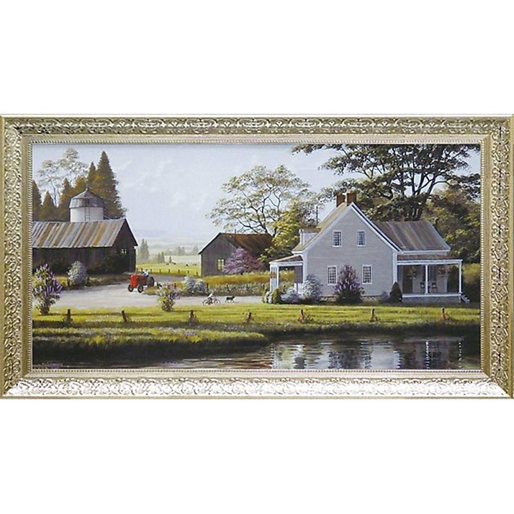 壁掛け飾り 絵画 お祝い 記念品 おしゃれ かわいい | ビル サンダース 「レッド トラクター」 | 絵画 BI-24013 | 絵画 |