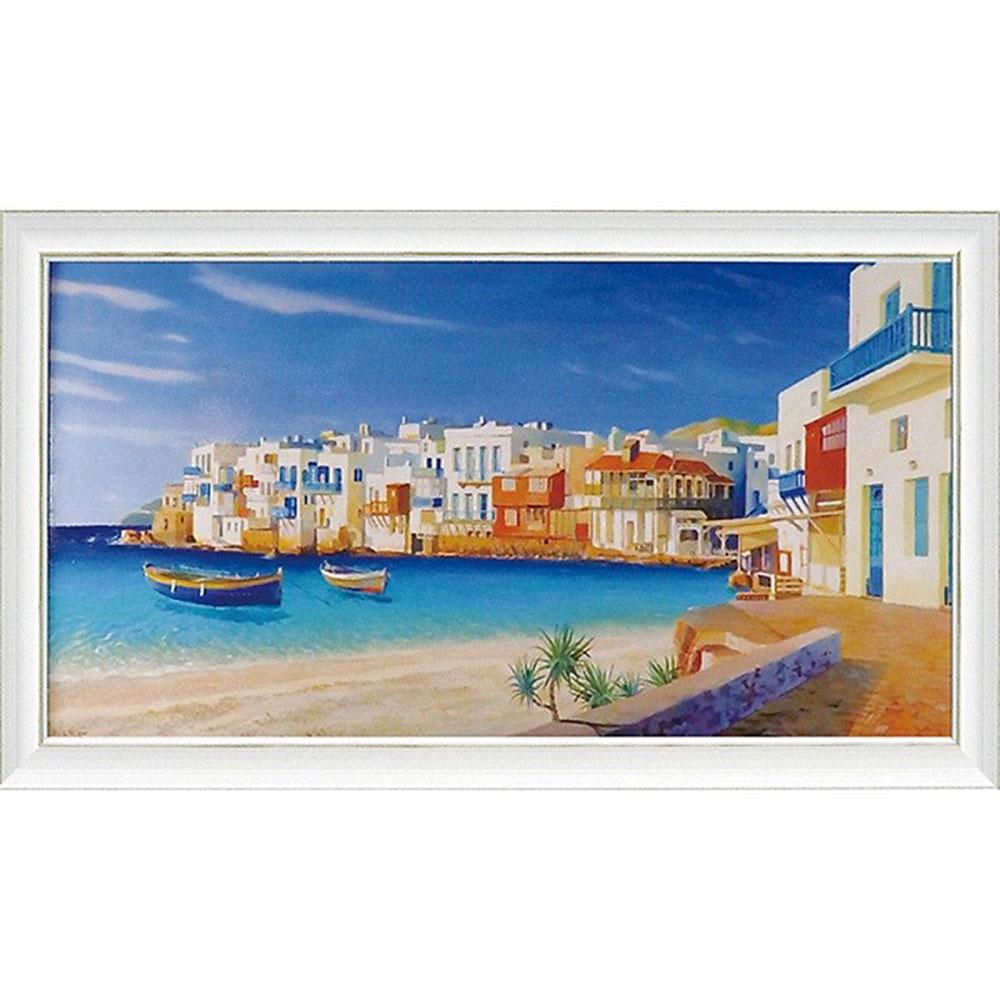 壁掛け飾り 絵画 お祝い 記念品 おしゃれ かわいい   アドリアーノ ガラッソー 「ミコノス」   絵画 AG-20005   絵画  