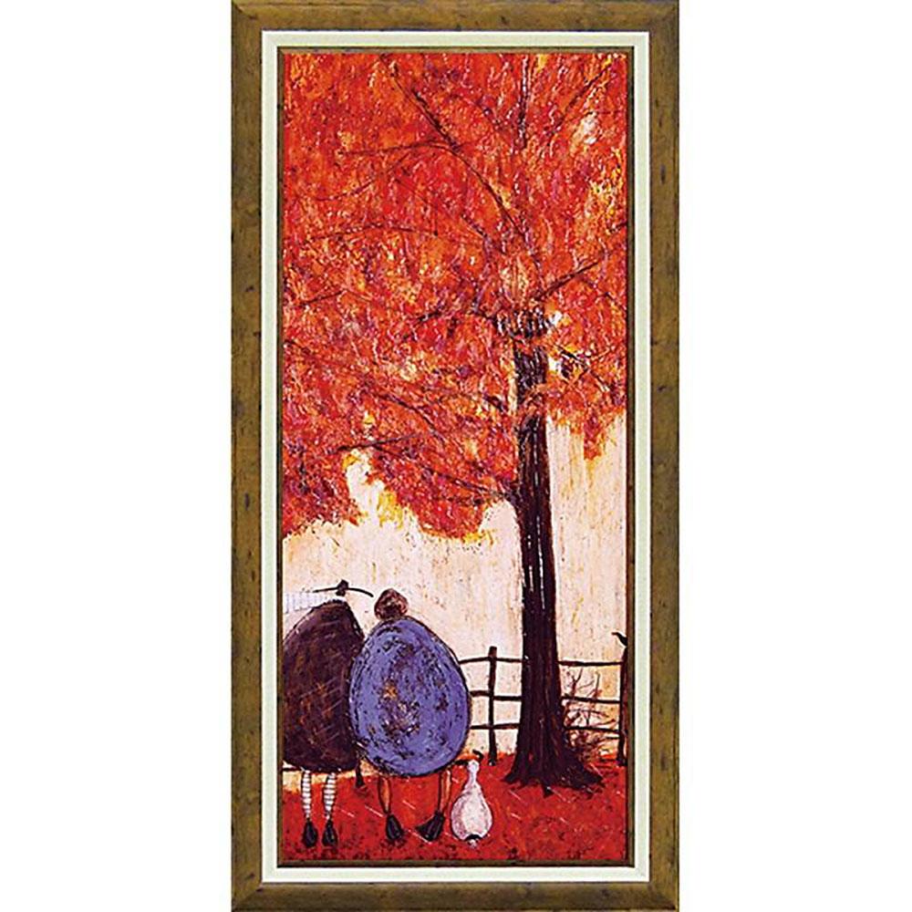 壁掛け飾り 絵画 お祝い 記念品 おしゃれ かわいい | サム トフト 「オータム」 | 絵画 ST-16015 | 絵画 |