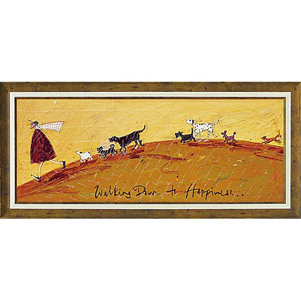 壁掛け飾り 絵画 お祝い 記念品 おしゃれ かわいい ST-15005 /サム トフト 「幸せへ向かって」 ST-15005 キャッシュレス還元 ポイント5倍