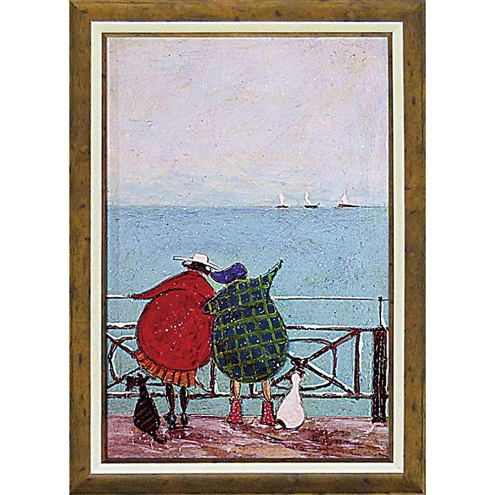 壁掛け飾り 絵画 お祝い 記念品 おしゃれ かわいい ST-16017 /サム トフト 「舟を眺めるひととき」 ST-16017 キャッシュレス還元 ポイント5倍