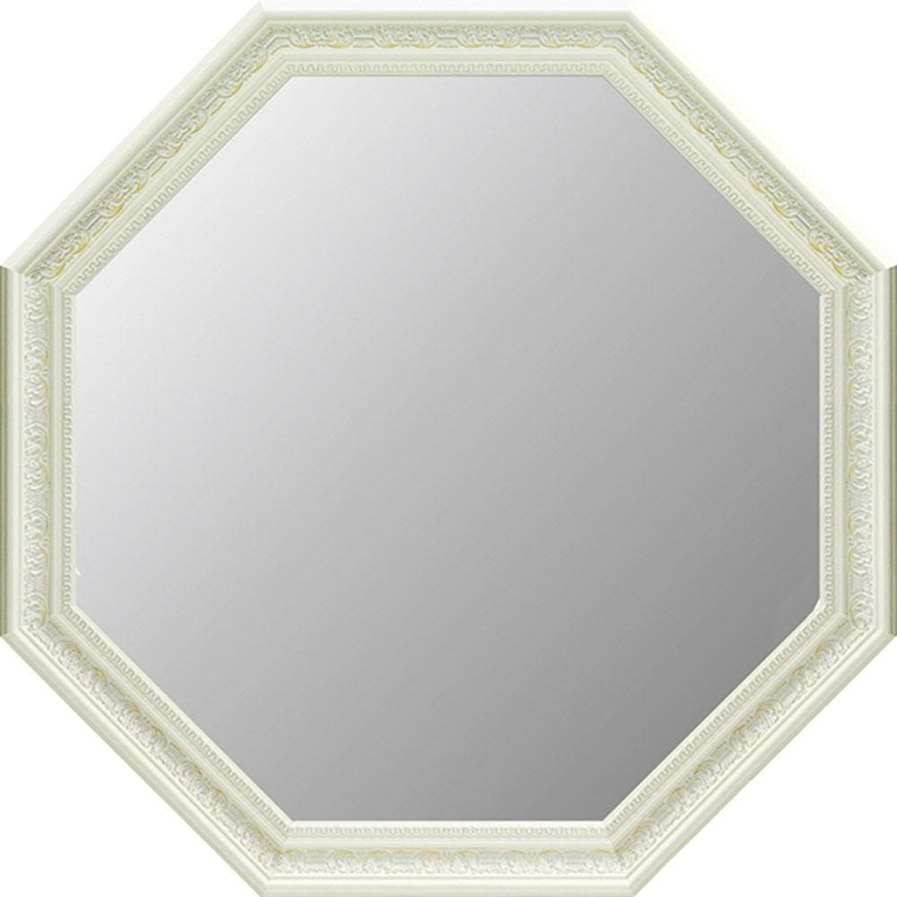 鏡 ミラー おしゃれ かわいい | アンティーク A大型 八角ミラー(ホワイト) | 鏡 ミラー AM-10021 | 鏡 |