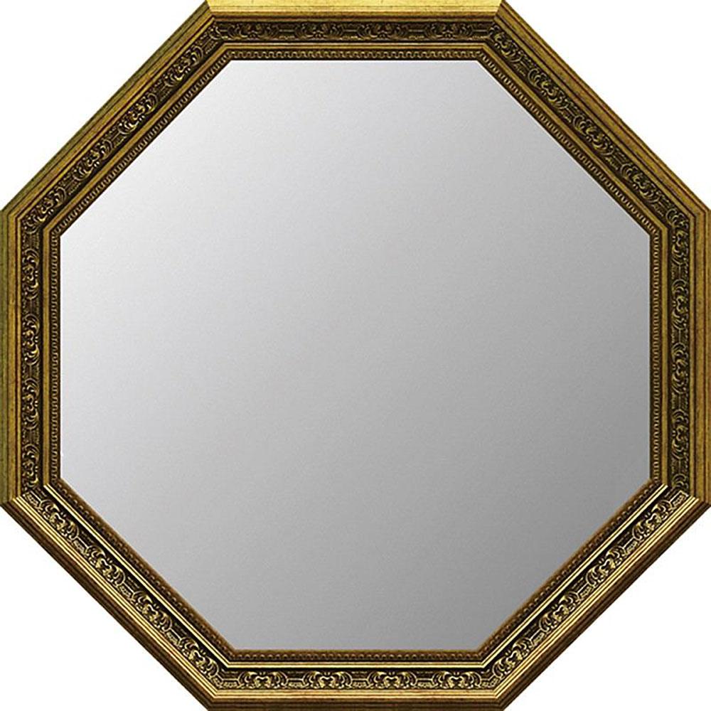 鏡 ミラー おしゃれ かわいい | アンティーク A大型 八角ミラー(ゴールド) | 鏡 ミラー AM-10022 | 鏡 |