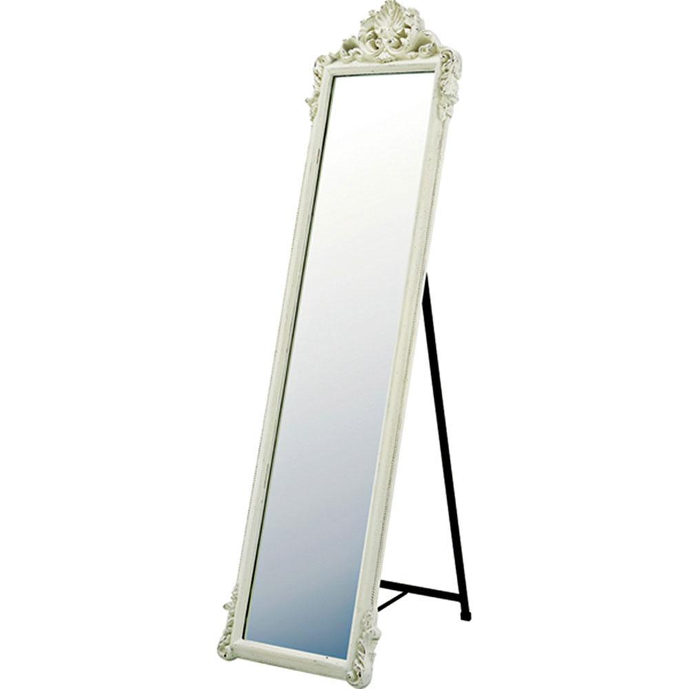 鏡 ミラー おしゃれ かわいい   グレース スタンド型アートミラー 「ニューロキシー(Uホワイト)」   鏡 ミラー GM-23011   鏡 角型  