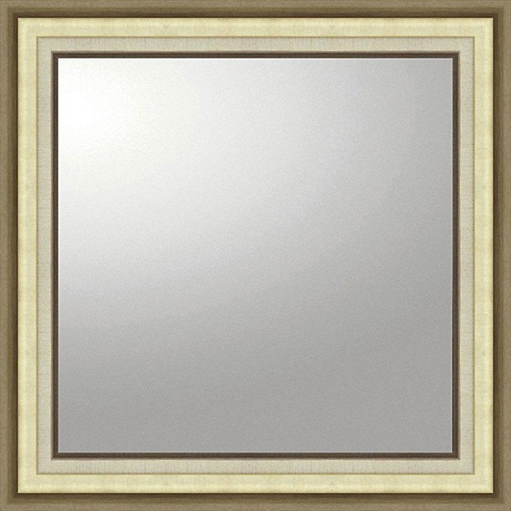 鏡 ミラー おしゃれ かわいい BM-16025 /デコラティブ 大型ミラー モダン 「正方形(ゴールド)」 壁掛用 BM-16025