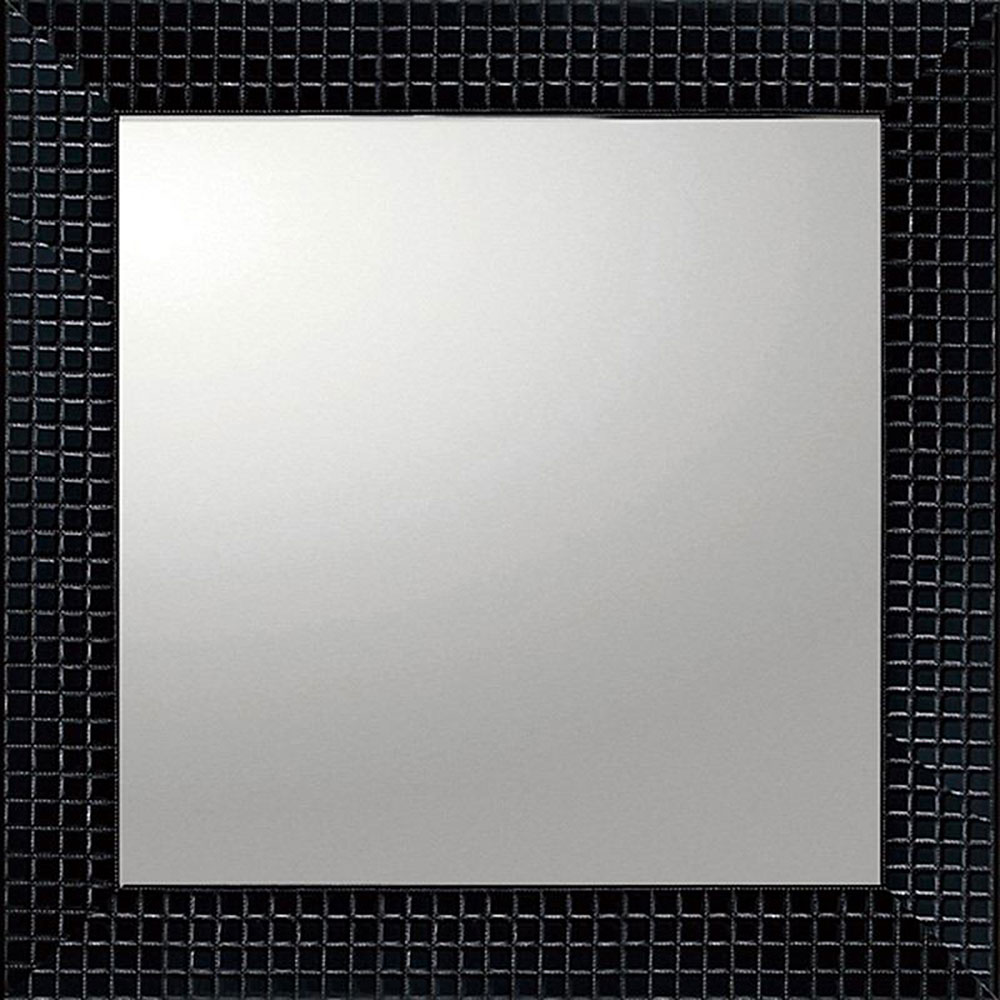 鏡 ミラー おしゃれ かわいい BM-14021 /デコラティブ 大型ミラー タイル 「正方形(ブラック)」 壁掛用 BM-14021