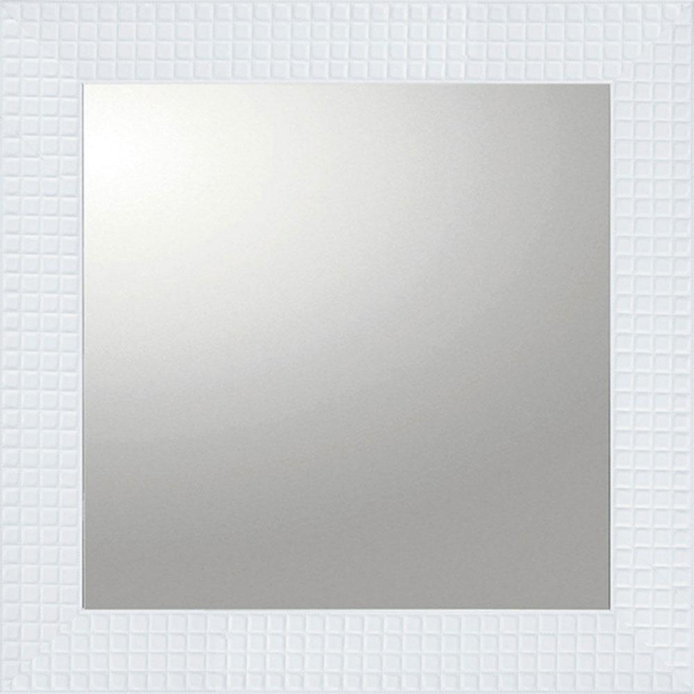 壁掛け鏡 デコラティブ 大型ミラー タイル 正方形 ホワイト BM-14022 コンペ景品 賞品
