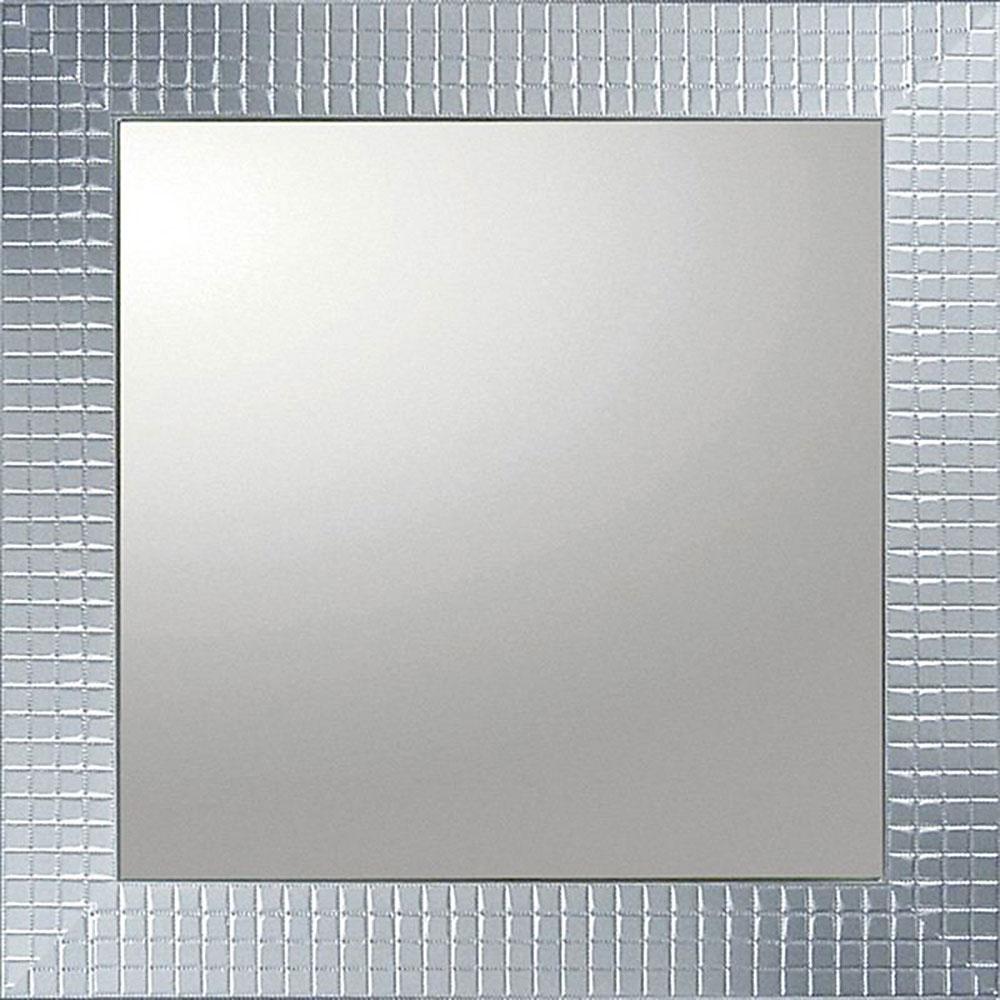 鏡 ミラー おしゃれ かわいい   デコラティブ 大型ミラー タイル 「正方形(シルバー)」   鏡 ミラー BM-14023   鏡 角型  