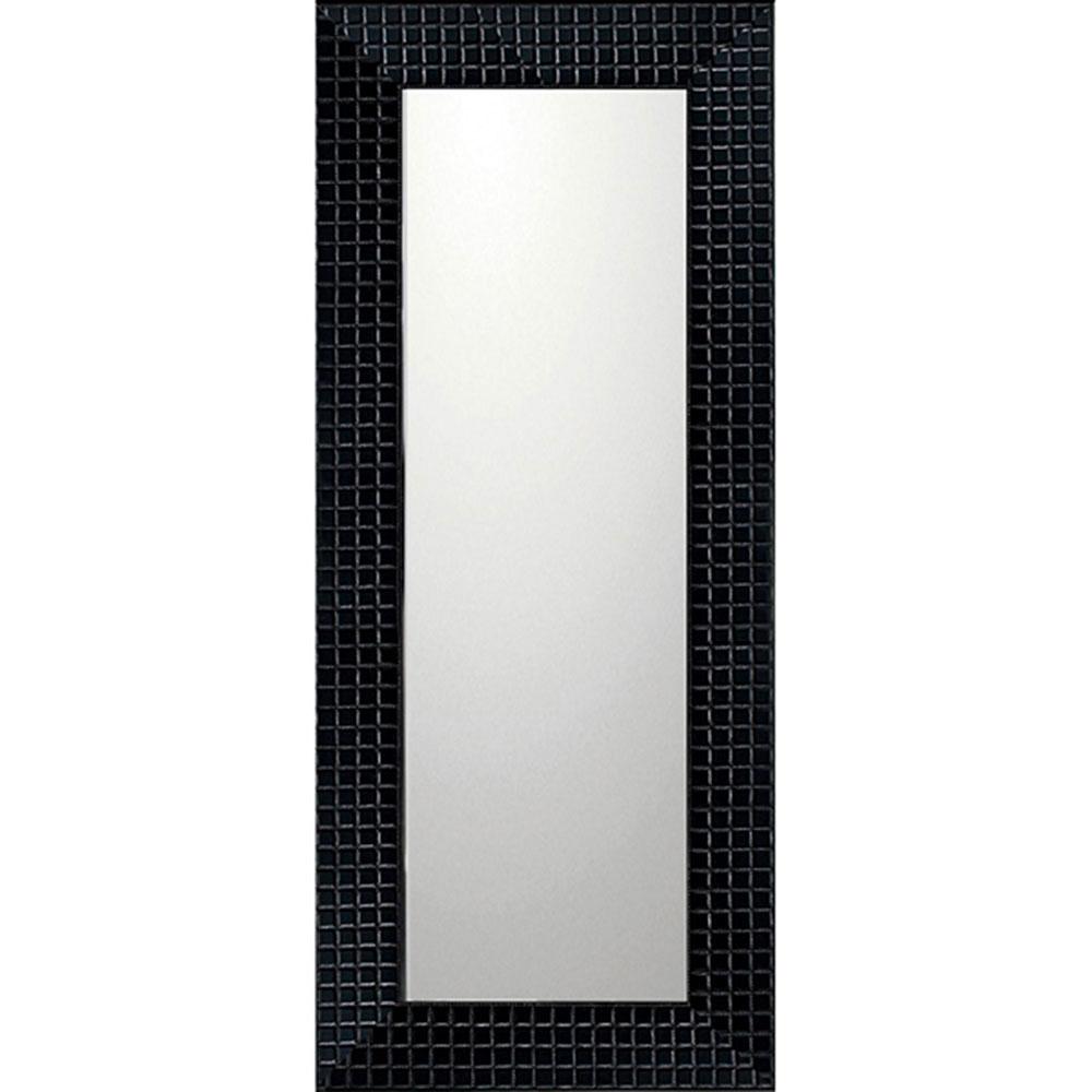 鏡 ミラー おしゃれ かわいい BM-14031 /デコラティブ 大型ミラー タイル 「ロング(ブラック)」 壁掛用 BM-14031 ママ割 ポイント5倍/キャッシュレス還元 ポイント5倍