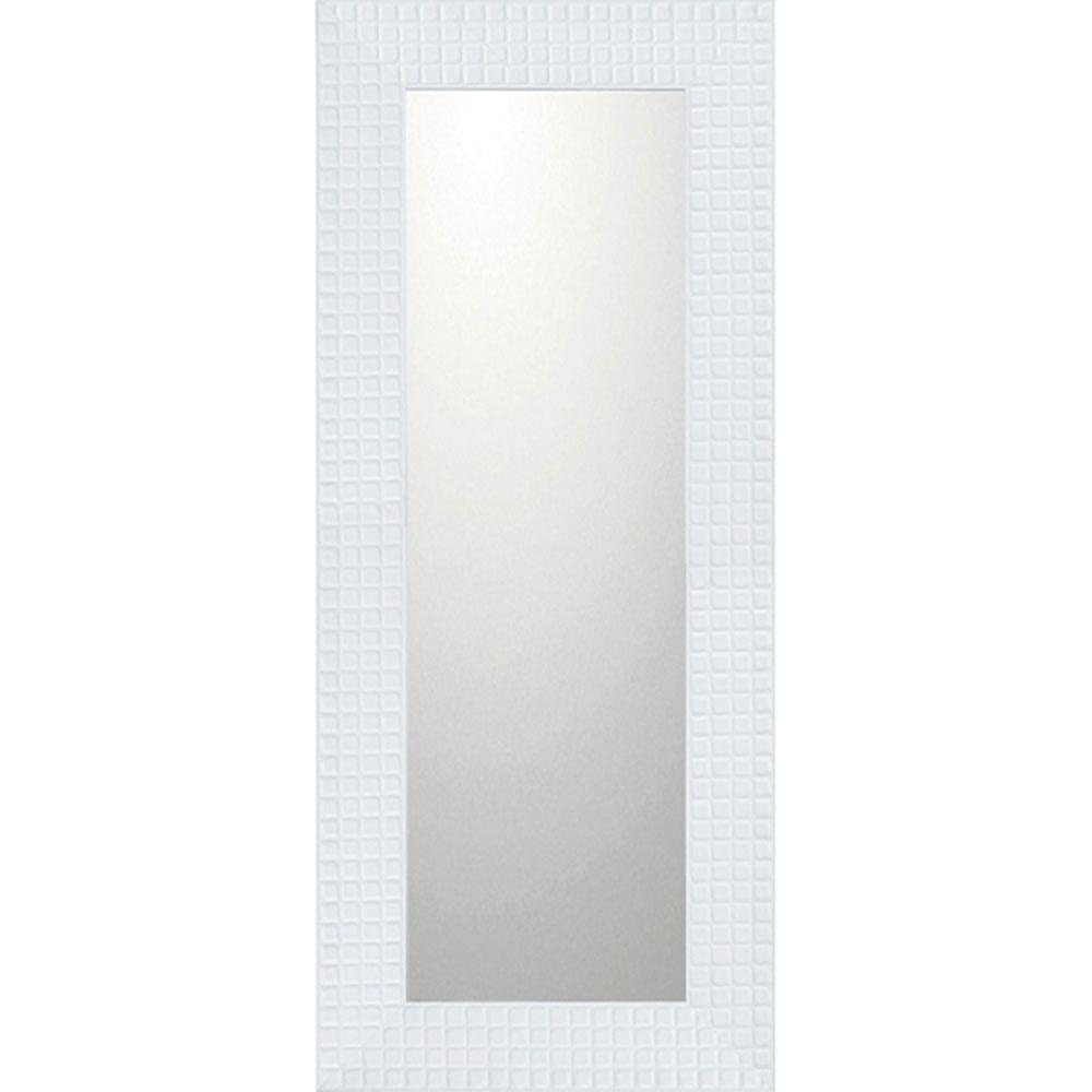 鏡 ミラー おしゃれ かわいい BM-14032 /デコラティブ 大型ミラー タイル 「ロング(ホワイト)」 壁掛用 BM-14032