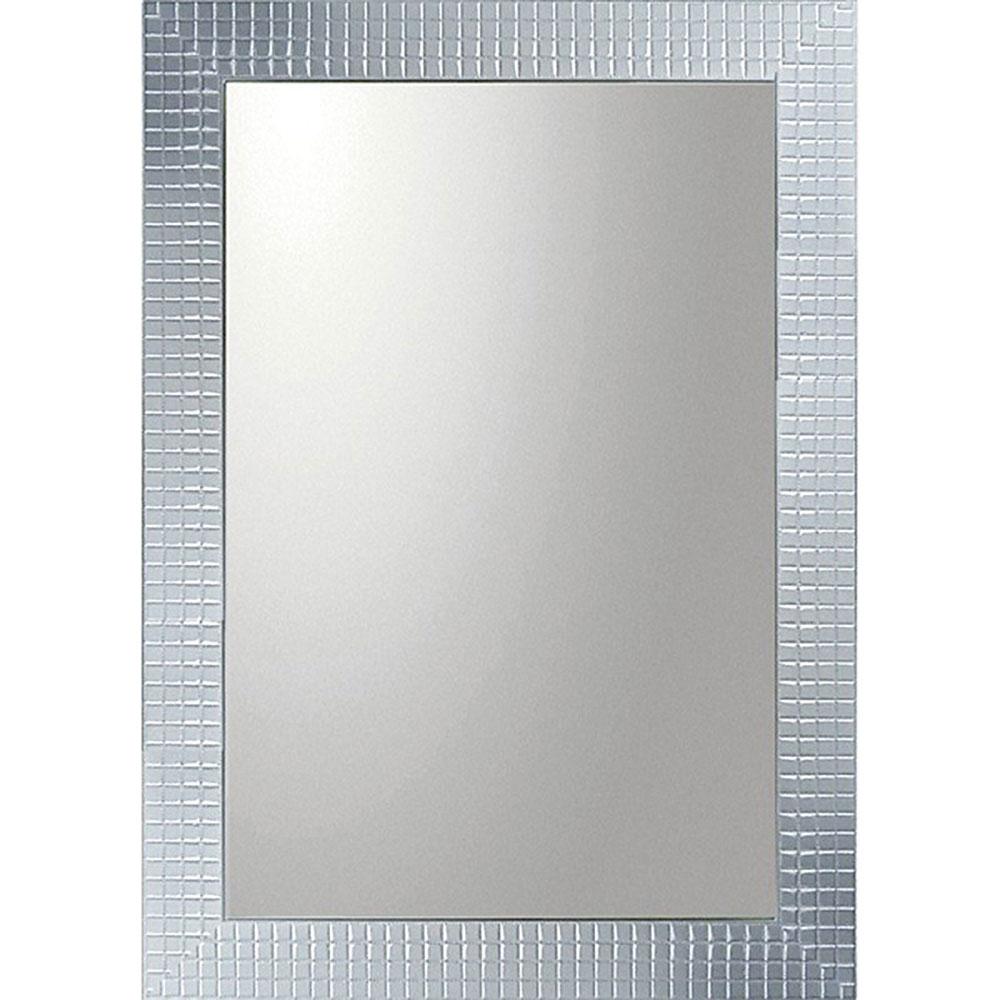 鏡 ミラー おしゃれ かわいい BM-20023 /デコラティブ 大型ミラー タイル 「長方形(シルバー)」 壁掛用 BM-20023 ママ割 ポイント5倍/キャッシュレス還元 ポイント5倍