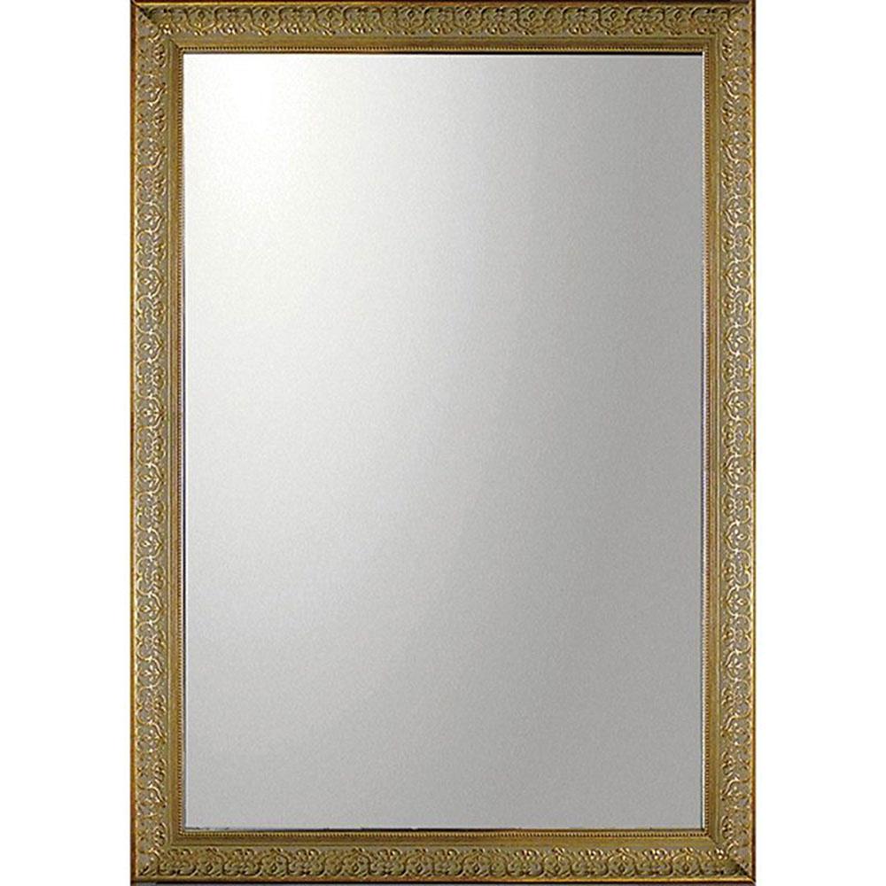 鏡 ミラー おしゃれ かわいい BM-20024 /デコラティブ 大型ミラー 「長方形(ゴールド)」 壁掛用 BM-20024