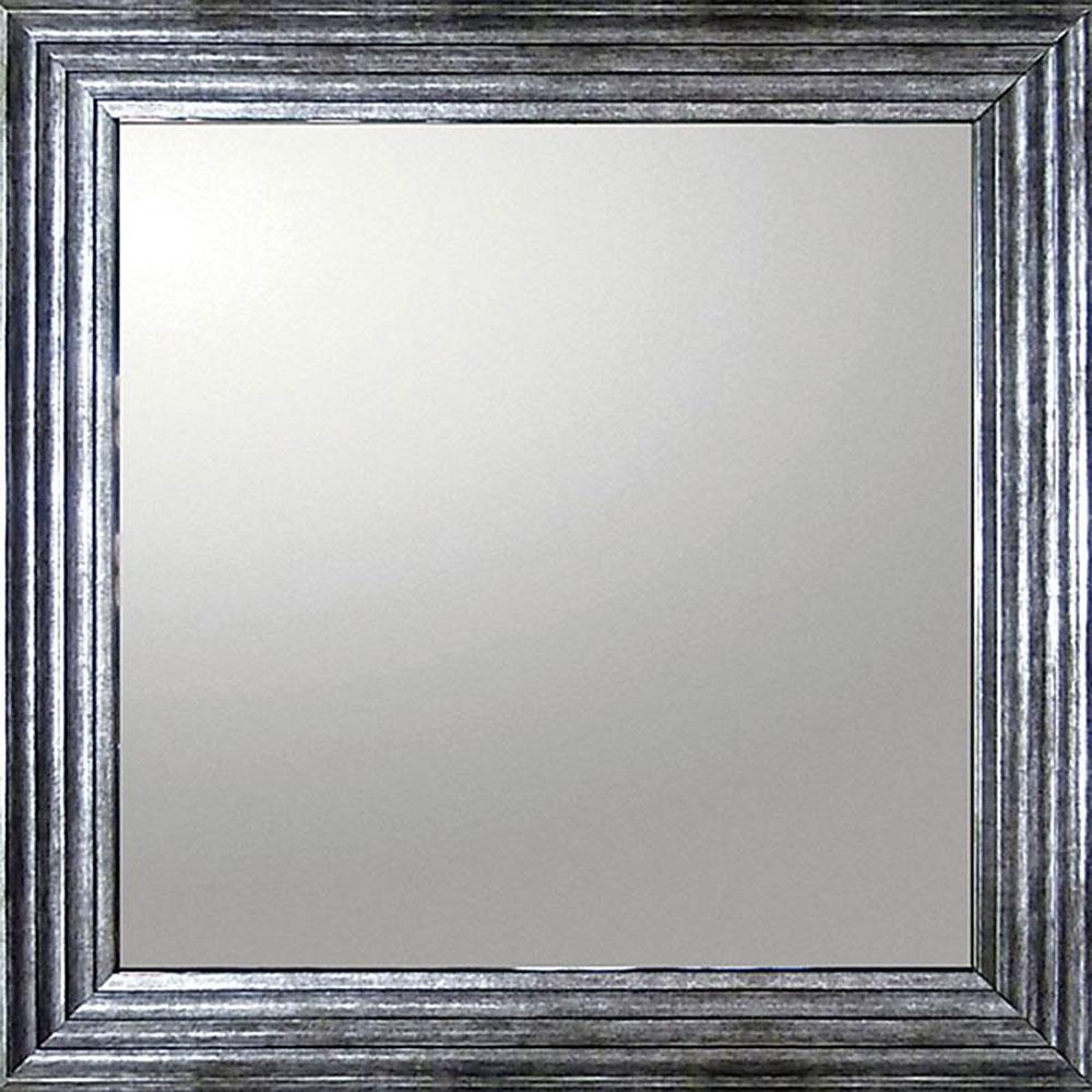鏡 ミラー おしゃれ かわいい | デコラティブ 大型ミラー シャープ 「正方形(Aシルバー)」 | 鏡 ミラー BM-16023 | 鏡 角型 |