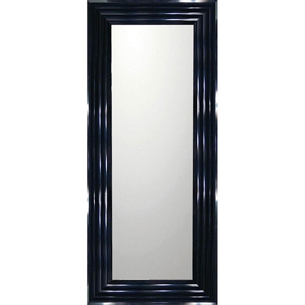 鏡 ミラー おしゃれ かわいい | デコラティブ 大型ミラー シャープ 「ロング(ブラック)」 | 鏡 ミラー BM-16031 | 鏡 角型 |