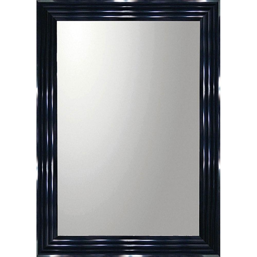 鏡 ミラー おしゃれ かわいい | デコラティブ 大型ミラー シャープ 「長方形(ブラック)」 | 鏡 ミラー BM-23021 | 鏡 角型 |